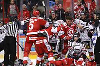 2020-03-07   Ljungby, Sverige: Bråk under matchen i Hockeyettan mellan IF Troja/Ljungby och Bodens HF i Ljungby Arena ( Foto av: Fredrik Sten   Swe Press Photo )<br /> <br /> Nyckelord: Ljungby, Ishockey, Hockeyettan, Ljungby Arena, IF Troja/Ljungby, Bodens HF, fstb200307, playoff, kval