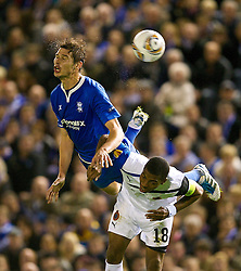 03.11.2011, St. Andrews Stadion, London, ENG, UEFA EL, Gruppe H, Birmingham City (ENG) vs FC Bruegge (BEL), im Bild Birmingham City's Nikola Zigic in action against Club Brugge's Ryan Donk // during UEFA Europa League group H match between Birmingham City (ENG) and FC Bruegge (BEL) at St. Andrews , London, United Kingdom on 03/11/2011. EXPA Pictures © 2011, PhotoCredit: EXPA/ Propaganda Photo/ David Rawcliff +++++ ATTENTION - OUT OF ENGLAND/GBR+++++