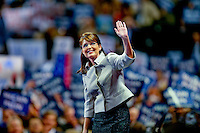 Republican vice presidential candidate Sarah Palin addresses the Republican National Convention in St. Paul, Minnesota, Wednesday, September 3, 2008.