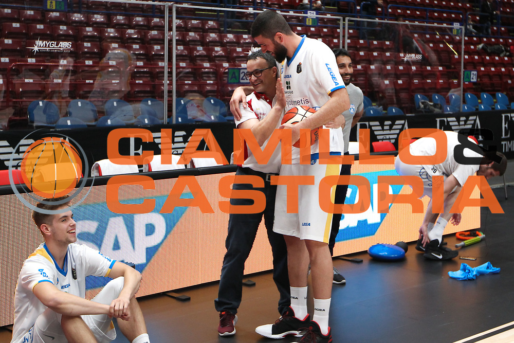 Iannuzzi Antonio e Fioretti Mario, EA7 Emporio Armani Milano vs Capo d'Orlando LBA Serie A Playoff gara 1 stagione 2016/2017 Mediolanum Forum Assago, Milano 12 maggio 2017