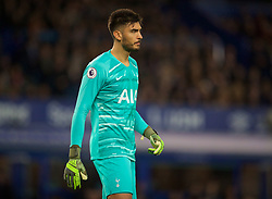 LIVERPOOL, ENGLAND - Sunday, November 3, 2019: Tottenham Hotspur's goalkeeper Paulo Gazzaniga during the FA Premier League match between Everton FC and Tottenham Hotspur FC at Goodison Park. (Pic by David Rawcliffe/Propaganda)