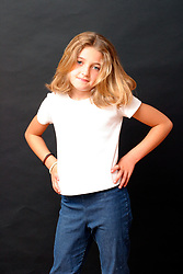 Portrait of girl aged 9 UK