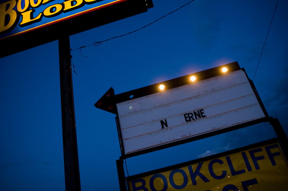 Old signs for Bookcliff Lodge Motel in Green River, Utah..Photographer: Chris Maluszynski /MOMENT