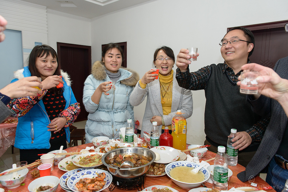 More toasting with a cousin of Jerry, Jia Wei, who practiced her English with us.