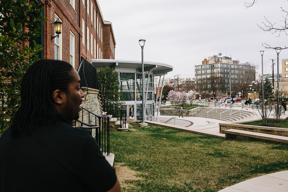 Marc Davis arrives at Woodrow Wilson High School in Washington DC. Davis, once worried his career path would be on the streets, mixed up with drug dealers, but after being mentored by UDC professor Dr. Daryao Khatri, Davis is now an algebra and geometry teacher at 23 years old.