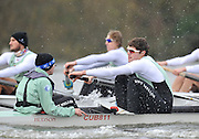 """LONDON, ENGLAND - Thursday  13/12/2012; Cambridge University Crew; """"Mash"""",  [L] Sam OJSERKIS and stroke Alexander FLEMING, during the annual Varsity trial 8's for The BNY Melon University Boat Race over the Championship Course [Putney to Mortlake]. The River Thames, England. (Mandatory Credit/ Peter  Spurrier/Intersport Images]"""
