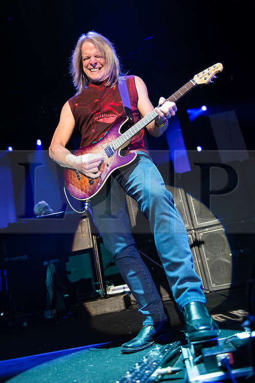 © Licensed to London News Pictures. 16/10/2013. London, UK.   Deep Purple performing live at The Roundhouse. Deep Purple consist of members Ian Paice (drums, percussion),<br /> Roger Glover (bass),Ian Gillan (vocals),Steve Morse (guitar), Don Airey (organ).  In this pic - Steve Morse.  Photo credit : Richard Isaac/LNP