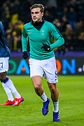Tottenham Hotspur midfielder Harry Winks (8) warms up ahead of the Champions League round of 16, leg 2 of 2 match between Borussia Dortmund and Tottenham Hotspur at Signal Iduna Park, Dortmund, Germany on 5 March 2019.
