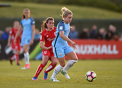 Jodie Brett of Bristol City Women chases Izzy Christiansen of Manchester City Women - Mandatory by-line: Paul Knight/JMP - 09/05/2017 - FOOTBALL - Stoke Gifford Stadium - Bristol, England - Bristol City Women v Manchester City Women - FA Women's Super League Spring Series