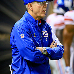 Nov 1, 2015; New Orleans, LA, USA; New York Giants head coach Tom Coughlin before a game against the New Orleans Saints at the Mercedes-Benz Superdome. Mandatory Credit: Derick E. Hingle-USA TODAY Sports