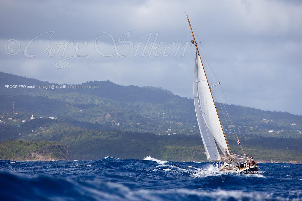 Zeevonk racing in the Grenada Classic Yacht Regatta.