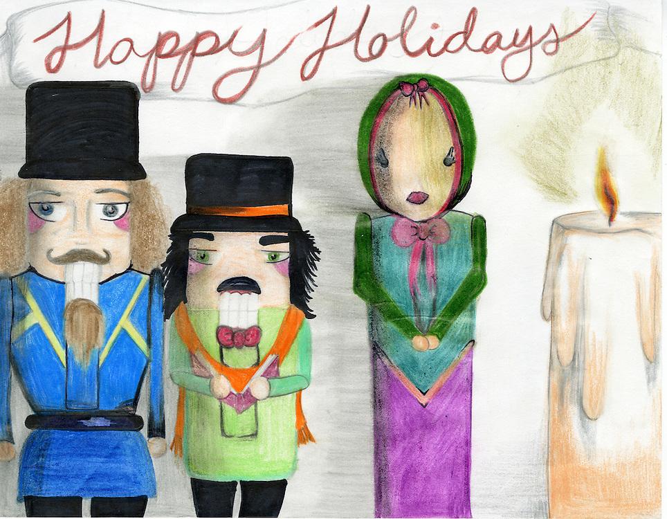 Holiday card designed by Paul Arreaga of Burbank Middle School.