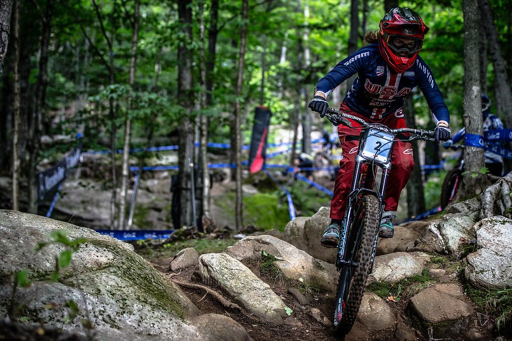 NEWKIRK Anna (USA) at the Mountain Bike World Championships in Mont-Sainte-Anne, Canada.