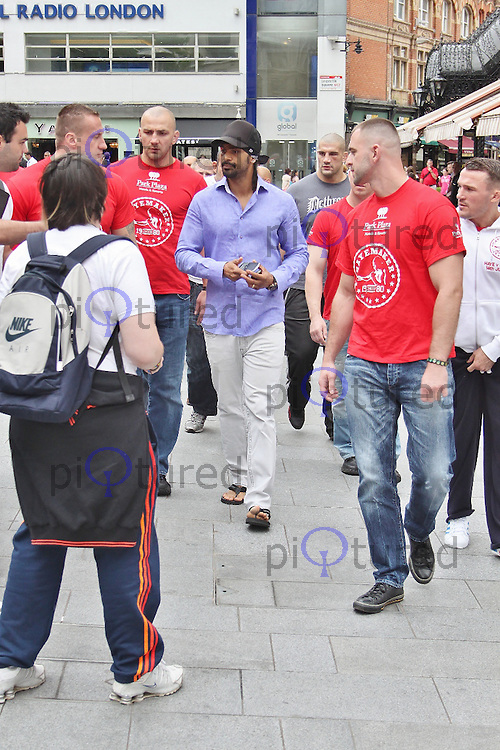 LONDON - July 12: David Haye at Odeon West End for the Haye Vs. Chisora Weigh In (Photo by Brett D.Cove)