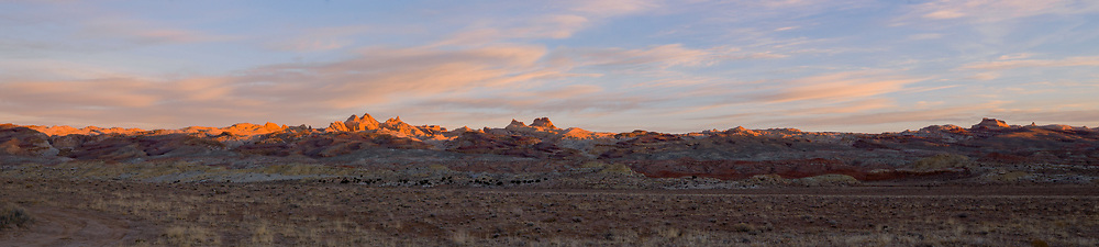 Sunrise on the San Rafael Reef, Utah.