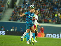 November 5, 2019, St. Petersburg, Russia: Russian Federation. Saint-Petersburg. Gazprom Arena. Football. UEFA Champions League. Group G. round 4. Football club Zenit - Football Club RB Leipzig. Player of Zenit football club Branislav Ivanovich  (Credit Image: © Russian Look via ZUMA Wire)