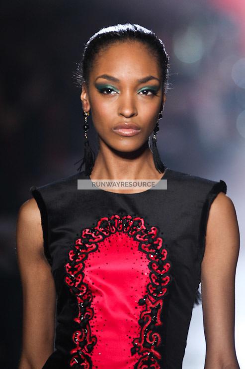 Jourdan Dunn walks down runway for F2012 Jason Wu's collection in Mercedes Benz fashion week in New York on Feb 10, 2012 NYC