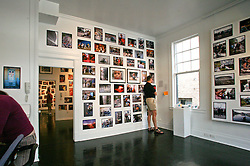 September 30 2006 - New Orleans, Louisiana. Benjamin Varley at the Jonathan Ferrara Gallery. 'Katrina 366 - A year and a day in the life of New Orleans.' Ben checks out his dad's show from his stroller! Ben's eye view on the last day of the show before we took it all down.