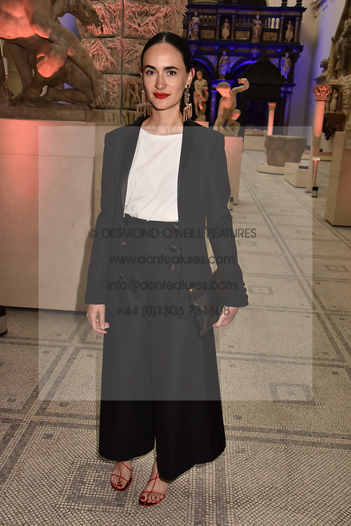 "Frida Escobedo at the opening of ""Frida Kahlo: Making Her Self Up"" Exhibition at the V&A Museum, London England. 13 June 2018."
