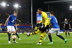 Guillaume Hoarau of BSC Young Boys crosses the ball - Photo mandatory by-line: Matt McNulty/JMP - Mobile: 07966 386802 - 26/02/2015 - SPORT - Football - Liverpool - Goodison Park - Everton v Young Boys - UEFA EUROPA LEAGUE ROUND OF 32 SECOND LEG