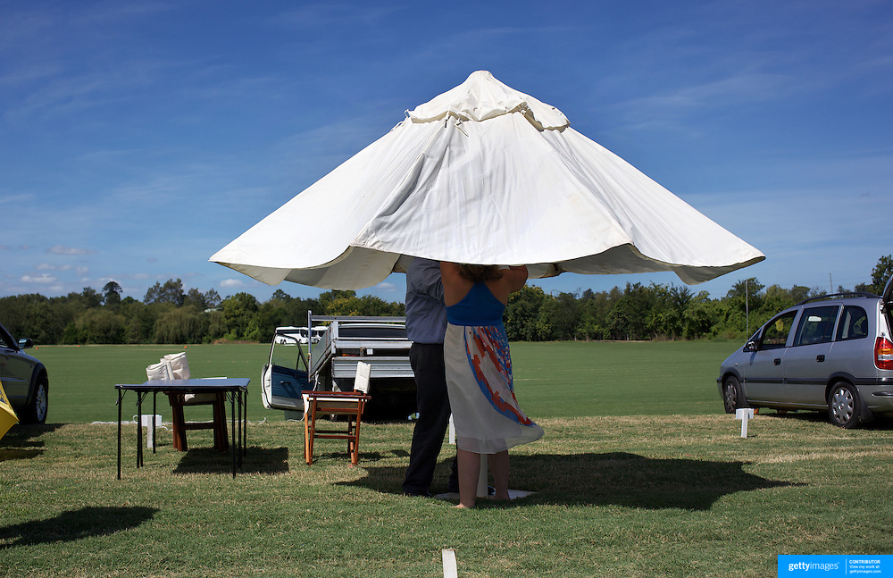 'A Day at the Polo'<br /> Spectators prepare for the days entertainment during the International Polo Test match between Australia and England at the Windsor Polo Club, Richmond, Sydney, Australia on March 29, 2009. Australia won the match 8-7.  Photo Tim Clayton