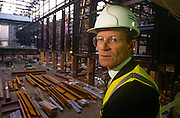 Director of Tate Modern art Gallery Sir Nick Serota during the refurbishment of the south bank power station's Turbine Hall in 1998...Sir Nicholas Andrew Serota (born 27 April 1946 is a British art curator. He was director of the Whitechapel Gallery, London, and The Museum of Modern Art, Oxford, before becoming director of the Tate, the United Kingdom's national gallery of modern and British art in 1988. He was awarded a knighthood in 1999. He has been the chairman of the Turner Prize jury. He was the driving force behind the creation of Tate Modern, which opened in 2000. In 2006, the Tate was censured by the Charity Commission over purchases of its trustees' work