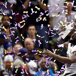 Feb 3, 2013; New Orleans, LA, USA; Baltimore Ravens free safety Ed Reed celebrates with the Vince Lombardi Trophy after defeating the San Francisco 49ers in Super Bowl XLVII at the Mercedes-Benz Superdome. Mandatory Credit: Derick E. Hingle-USA TODAY Sports