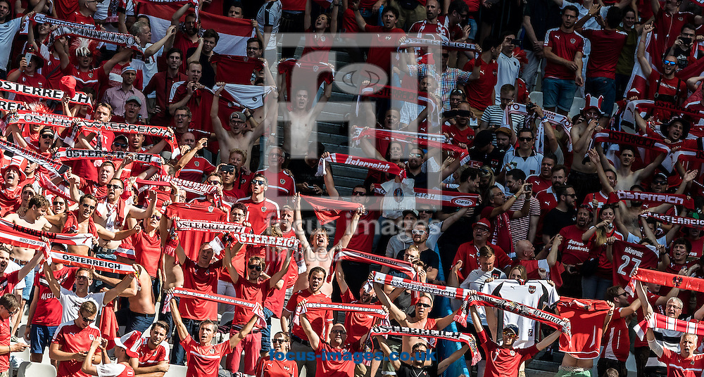Fans of Austria during the UEFA Euro 2016 match at Stade Velodrome, Marseille, France.<br /> Picture by EXPA Pictures/Focus Images Ltd 07814482222<br /> 22/06/2016<br /> *** UK &amp; IRELAND ONLY ***<br /> EXPA-FEI-160622-5008.jpg