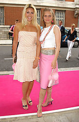 Left to right, BEVERLEY BLOOM and ARABELLA TOBIAS at a charity event 'In The Pink' a night of music and fashion in aid of the Breast Cancer Haven in association with fashion designer Catherine Walker held at the Cadogan Hall, Sloane Terrace, London on 20th June 2005.<br />