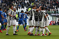 04.02.2018 - Torino - Serie A 2017/18 - 23a giornata  -  Juventus-Sassuolo nella  foto: Alex Sandro abbracciato dai compagni dopo il gol dell' 1 a 0