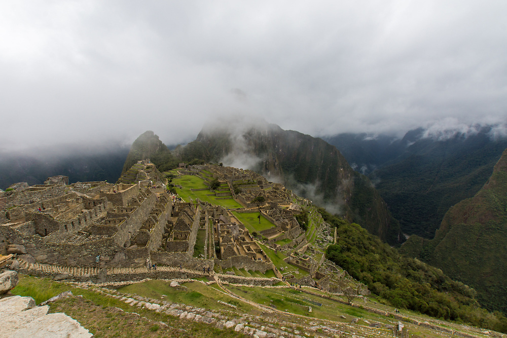 Machu Picchu is a 15th century Inca citadell on a mountain ridge.  It is located northwest of Cusco, Peru. Machu Picchu is believed to have been built as an estate for the Inca emperor Pachacuti.