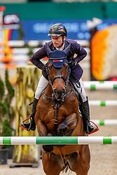 JUNG Michael (GER), Dante RZ<br /> Leipzig - Partner Pferd 2020<br /> IDEE Kaffee-Preis<br /> Springprfg. nach Fehlern und Zeit, int.<br /> 17. Januar 2020<br /> © www.sportfotos-lafrentz.de/Stefan Lafrentz