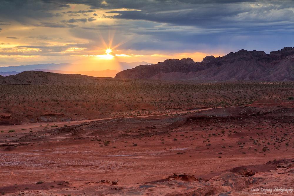 Sunset over the Nevada Desert