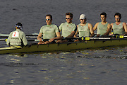 Boston, Massachusetts,  Men's Championship eights, Cambridge University, CUBC. return to the boating area after competing in the  Forty Second, [42nd] Head of the Charles, 22/10/2006.  Photo  Peter Spurrier/Intersport Images...[Mandatory Credit, Peter Spurier/ Intersport Images] Rowing Course; Charles River. Boston. USA