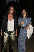 TRISH SIMONON; BELLA FREUD, Serpentine's Summer party co-hosted with Christopher Kane. 15th Serpentine Pavilion designed by Spanish architects Selgascano. Kensington Gardens. London. 2 July 2015.