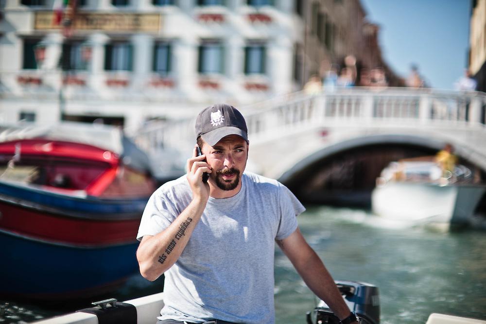 """23 MAY 2011 - Venezia - Tommaso Cacciari, resp. del centro sociale """"Laboratorio Morion"""""""