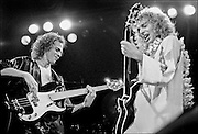 Peter Frampton, right and Stanley Shelton, left perform at the Honolulu International Center Arena in 1976.  The Honolulu International Center (HIC) has now been re-named the Neil S. Blaisdell Arena. .©PF Bentley/PFPIX.com