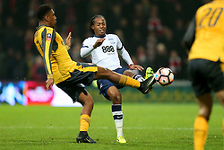Daniel Johnson of Preston North End challenges Alex Iwobi of Arsenal - Mandatory by-line: Matt McNulty/JMP - 07/01/2017 - FOOTBALL - Deepdale - Preston, England - Preston North End v Arsenal - Emirates FA Cup third round