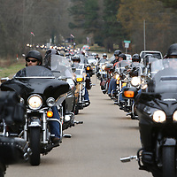 Libby Ezell | BUY AT PHOTOS.DJOURNAL.COM<br /> Hundreds of bikers showed up Saturday for the Annual Mingo Toy Run to deliver toys to Grace Memorial Baptist Church