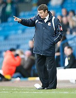 Photo: Steve Bond/Richard Lane Photography. Leeds United v Swindon Town. Coca Cola League One. 14/03/2009. Danny Wilson on the touchline