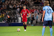 SYDNEY, AUSTRALIA - APRIL 10: Shanghai SIPG FC player Oscar (8) lines up a free kick at The AFC Champions League football game between Sydney FC and Shanghai SIPG FC on April 10, 2019, at Netstrata Jubilee Stadium in Sydney, Australia. (Photo by Speed Media/Icon Sportswire)