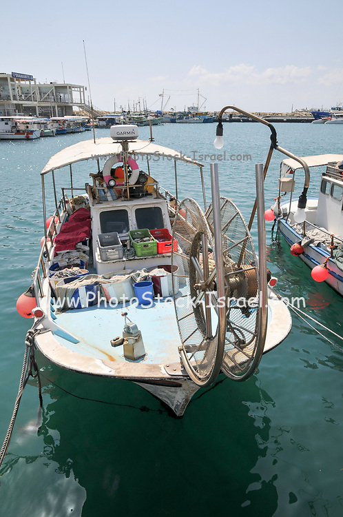 fishing boats in the old port of Limassol, Cyprus