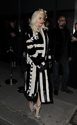 Rita Ora attends Playboy's 60th anniversary issue party hosted by Marc Jacobs and Kate Moss at The Playboy Club in London UK 02/12/13<br />BYLINE MUST READ : GOTCHAIMAGES.COM<br /><br />Copyright by © Gotcha Images Ltd. All rights reserved.<br />Usage of this image is conditional upon the acceptance <br />of Gotcha Images Ltd, terms and conditions available at<br />www.gotchaimages.com