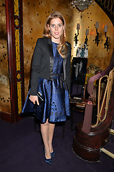 PRINCESS BEATRICE OF YORK at a party to celebrate the launch of the Dee Ocleppo 2015 Pre Fall Collection benefiting the Walkabout Foundation held at Loulou's, 5 Hertford Street, London on 16th June 2015.