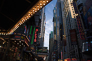 Theater District including Madame Tussaud s wax museum on 42nd Street New York City