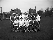 Munster vs Ulster Schoolgirls Hockey at Churchill Terrace for Cork Examiner .27/03/1958 .