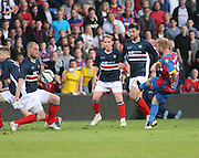 James McPake blocks Barry Bannan's shot - Crystal Palace v Dundee - Julian Speroni testimonial match at Selhurst Park<br /> <br />  - © David Young - www.davidyoungphoto.co.uk - email: davidyoungphoto@gmail.com