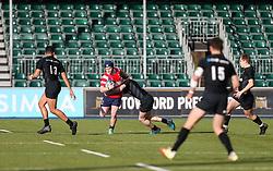 Harry Rowson of Bristol Bears U18 is tackled - Mandatory by-line: Arron Gent/JMP - 12/01/2020 - RUGBY - Allianz Park - London, England - Saracens U18 v Bristol Bears U18 - Premiership U18 Academy
