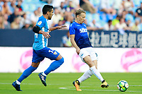 Malaga CF's Jose Luis Garcia Recio (l) and SS Lazio's Pezzini Leiva during XXXIII Costa del Sol Trophy. August 5,2017. (ALTERPHOTOS/Acero)