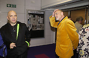 Anthony Mingella and yellow suit: Jim Hamilton, celebration of 100 years of the acting school RADA at the National Film Theatre, on May 9 2004. SUPPLIED FOR ONE-TIME USE ONLY> DO NOT ARCHIVE. © Copyright Photograph by Dafydd Jones 66 Stockwell Park Rd. London SW9 0DA Tel 020 7733 0108 www.dafjones.com